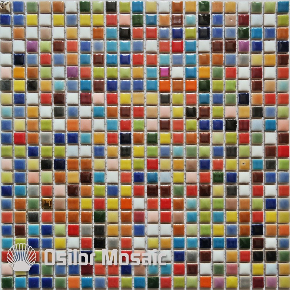 Free Shipping Colorful Ceramic Mosaic Tile For Interior House Decoration Wall Tile