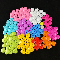 Resin Sewing Button Heart Shaped Mixed 2 Holes Children Clothing Buttons  KIDS Clothes DIY Sewing Buttons Scrapbooking 15/18mm