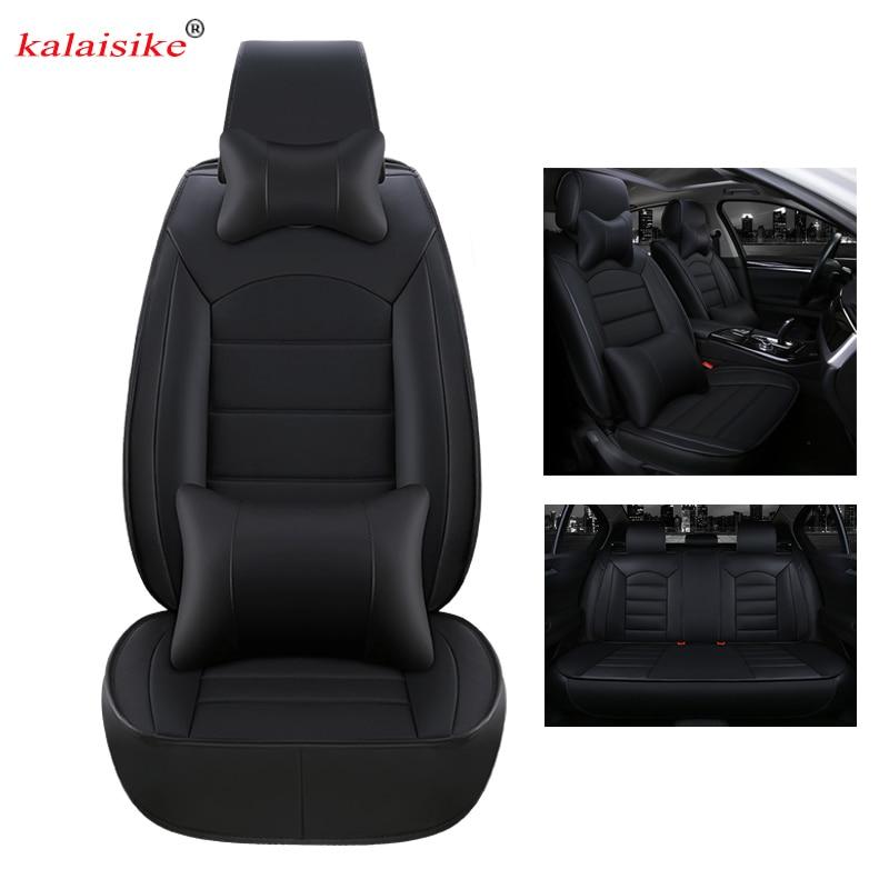 kalaisike leather universal car seat covers for Nissan all models juke note qashqai almera x-trail leaf teana tiida altima