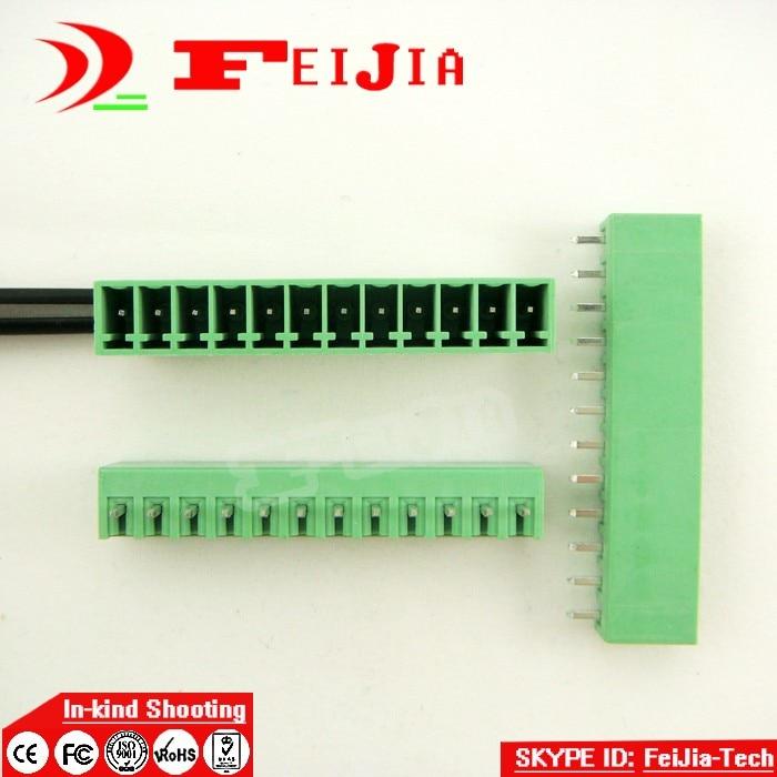 (50pcs/lot) 15EDG-3.5-12P Straight Pin PCB Screw Terminal Block Connector 3.5mm Pitch 12 Pins Plug in [vk] 553602 1 50 pin champ latch plug screw connectors