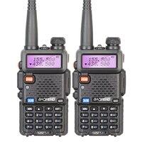 2PCS Original Baofeng Ham Dual Band VHF UHF Radio Walkie Talkie Li Ion 128CH Transceiver UV