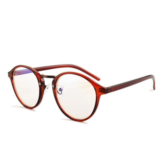 Retro Round Anti Blue Light Rays Eye Glasses