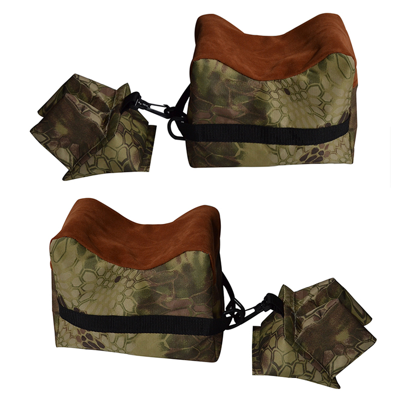 Portable Camouflage Shooting Gun Gun Rest Bag Set Front & Rear Rifle Target Hunting Bench Unfilled Stand Hunting Gun Accessorie