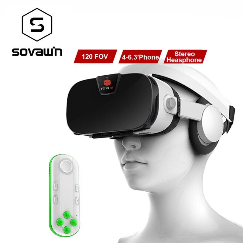Fiit 3F 112FOV Virtual Reality Googles VR 3D Glasses Headset VR BOX Helmet Cardboard 42mm Lenses