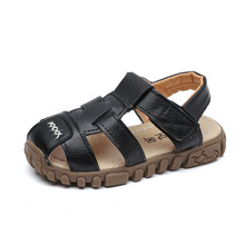 boys shoes for summer Yellow beef soft bottom beach sandals black princess girls white flat