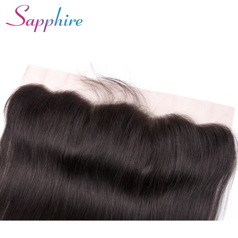 Sapphire Hair Ear to Ear Lace Frontal Closure 13X4 Free Part With Baby Hair Malaysian Straight Human Hair Remy Hair