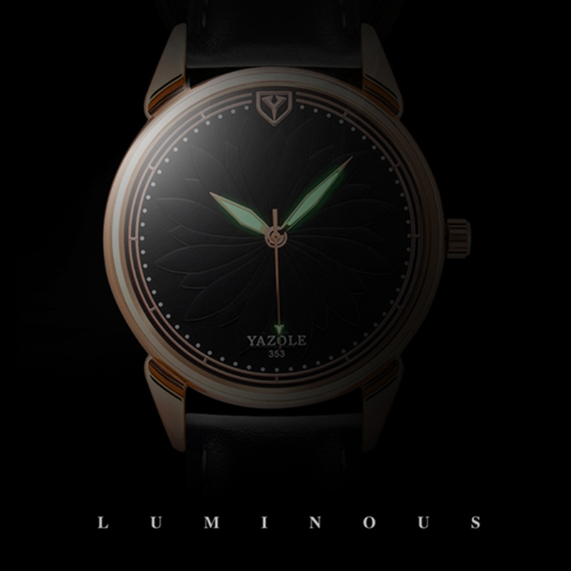 YAZOLE Top Brand Luminous Watch Men Watch Fashion Men's Watch Luxury Gold Watches Clock kol saati relogio masculino reloj hombre все цены