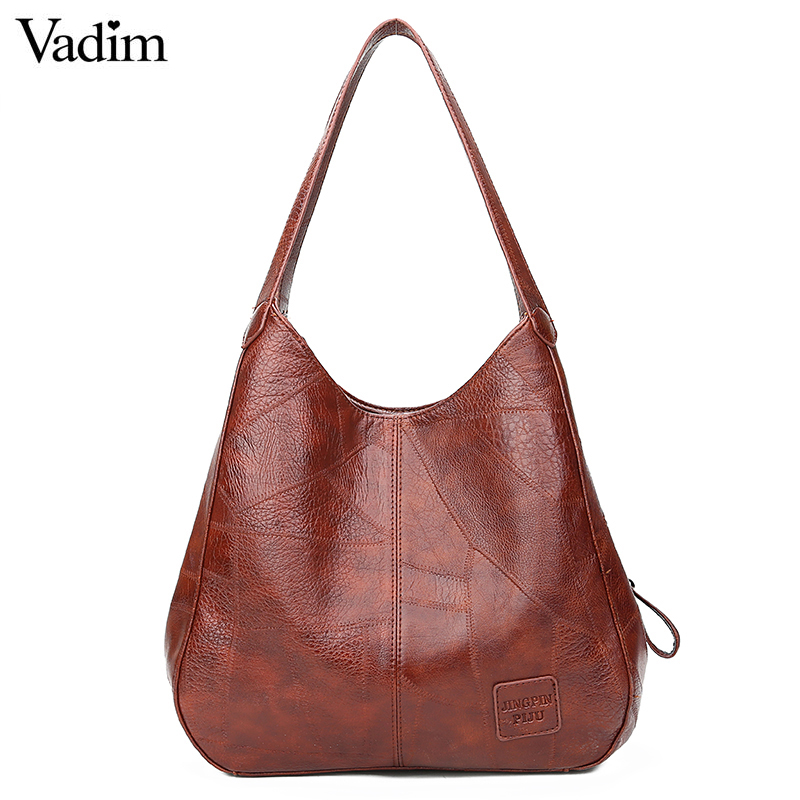 Vadim 2019 Hobos Bag Women Leather Handbags Female Shoulder Bags Ladies Casual Tote Soft Vintage Bags For Women Bolsos Feminina