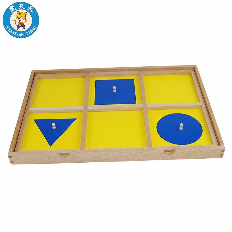 Bébé jouets en bois Montessori matériel éducation jouets géométrique démonstration plateau rond carré et Triangle Puzzles
