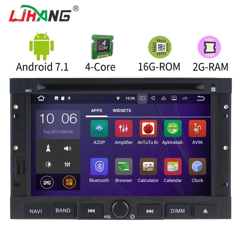 LJHANG Android 7.1 Car Gps Navigation for Peugeot 3005 3008 5008 Partner Berlingo SWC Car DVD Player Auto Audio Radio Headunit