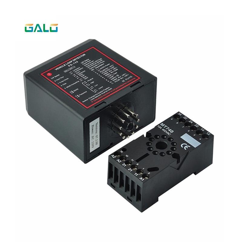 Module de contrôleur de détecteur de boucle de véhicule inductif à canal unique de détecteur de sol 220 V pour le moteur d'ouvreur de porte de barrière