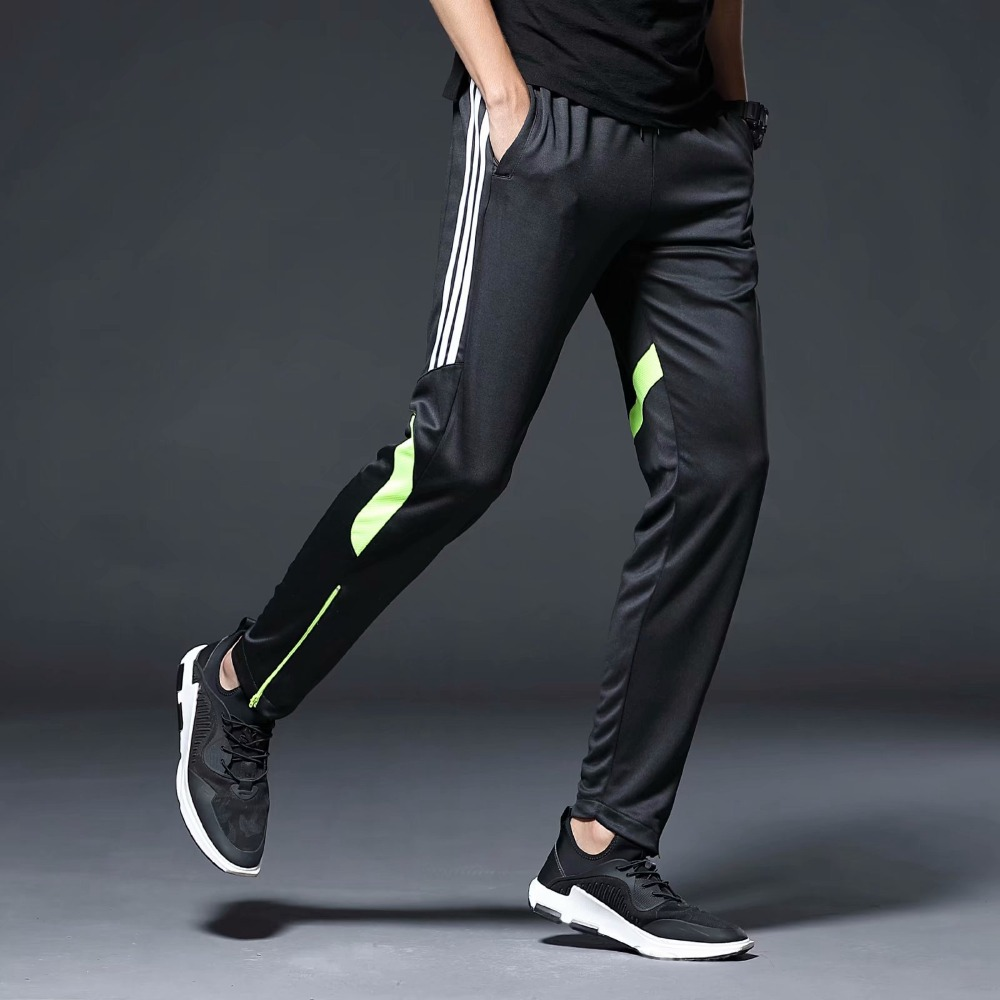 Image 5 - Men Sports Running Pants zipper Pockets Athletic Football Soccer Training sport Pants Elasticity Legging jogging Gym Trousers-in Running Pants from Sports & Entertainment on AliExpress
