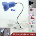 E27 Interruptor Grampos Desk Lamp Abajur Pode Girar 360 Graus Chaminé; Planta de Lâmpadas E Lanternas, Branco/Preto/azul/Vermelho/Verde/Rosa