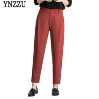 Newest Fashion Summer Casual Solid Women Pants High Waist Elegant Work To Wear Female Harem Pants