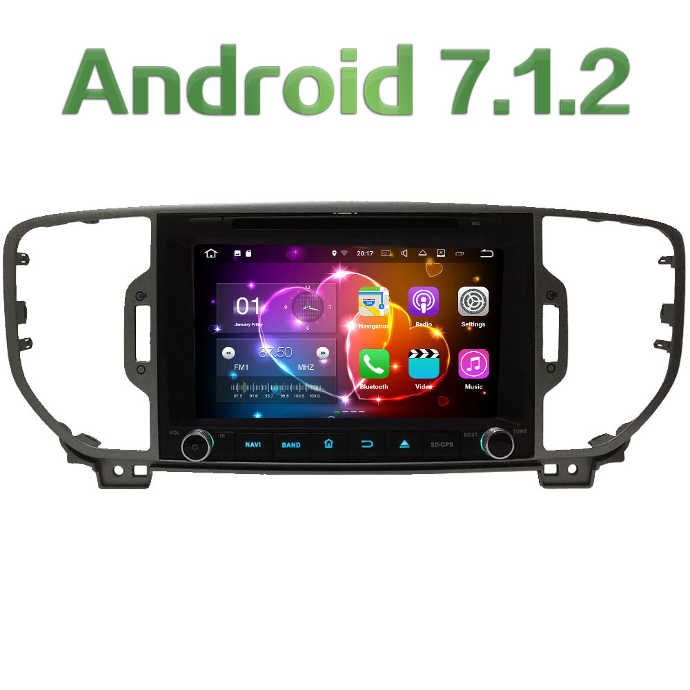 8 Quad Core Android 7 1 2 2GB RAM 3G 4G WIFI DAB SWC Car DVD