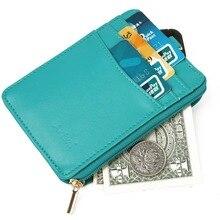 Artmi Damen Kartenhalter RFID Kartenetui Kompakte Brieftasche mit ID Fenster Schlüsselanhänger