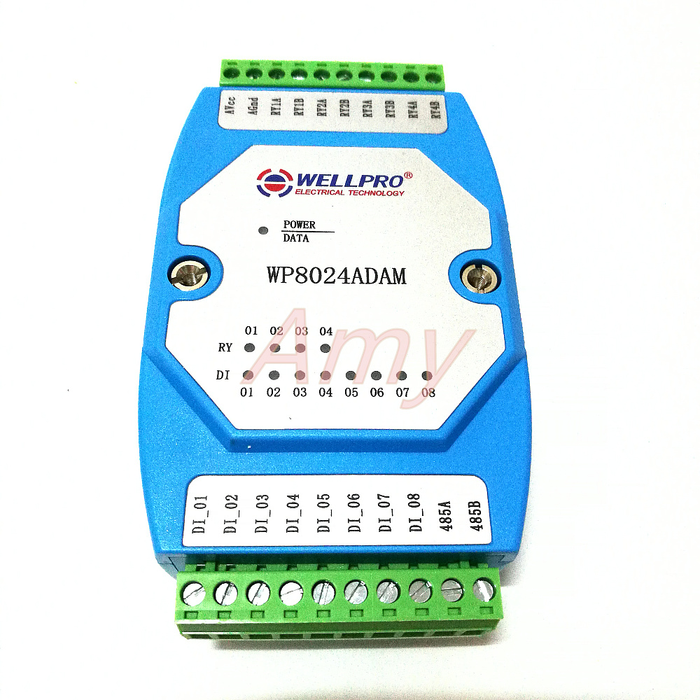 Digital input and output module switch module Isolated 8DI / 4RY RS485 MODBUS communicationDigital input and output module switch module Isolated 8DI / 4RY RS485 MODBUS communication