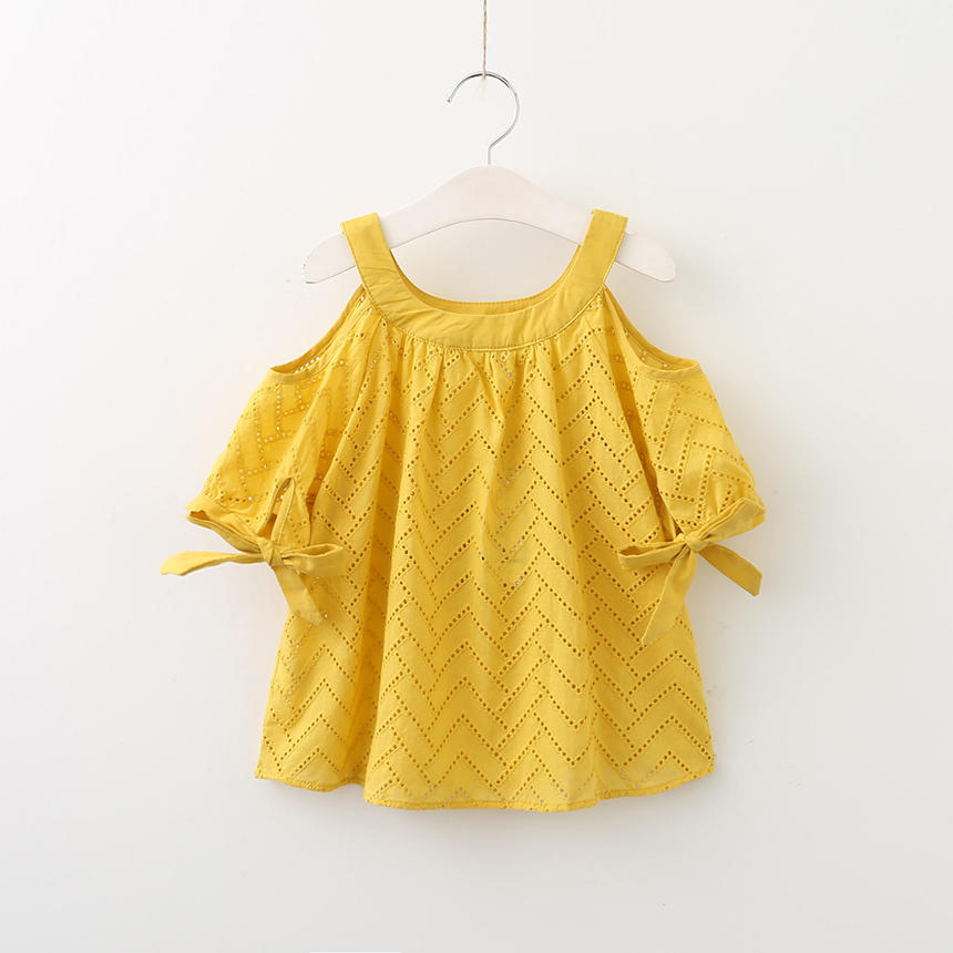 Keelorn/рубашки для девочек 2018 новые летние Стиль Блузка для девочек цветочной вышивкой детские блузки одежда для девочек От 3 до 7 лет