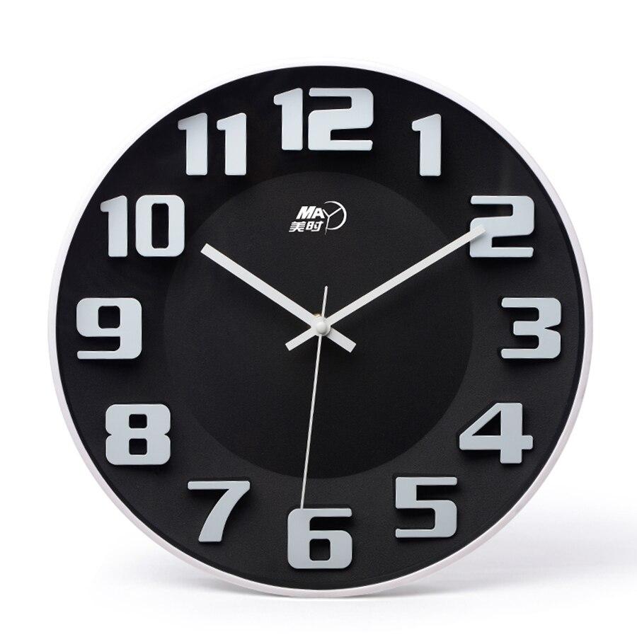 3d grande créative dessin animé horloge murale Design moderne silencieux enfants nordique cuisine horloge Reloj De Pared horloges murales maison WBY022
