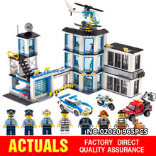 Models building block kits Compatible with lego City 60141 965Pcs Police Station Building Blocks toys 3D Bricks figure toys single sale band figure john winston lennon paul mccartney george harrison ringo starr building blocks models toys