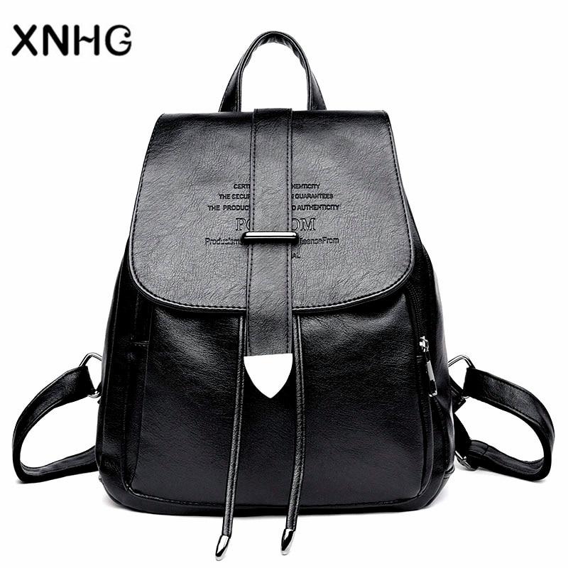 Korean Style Backpacks Fashion Anti Theft Laptop Backpack Embossing Bolsa Mochila Feminina Rucksack Bagpack Women Sac a Dos 2108