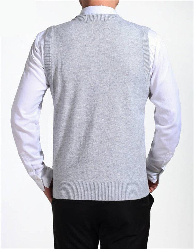 COODRONY Новое поступление Однотонный свитер жилет мужской кашемировый свитер шерстяной пуловер для мужчин бренд с v-образным вырезом без рукавов Джерси Hombre
