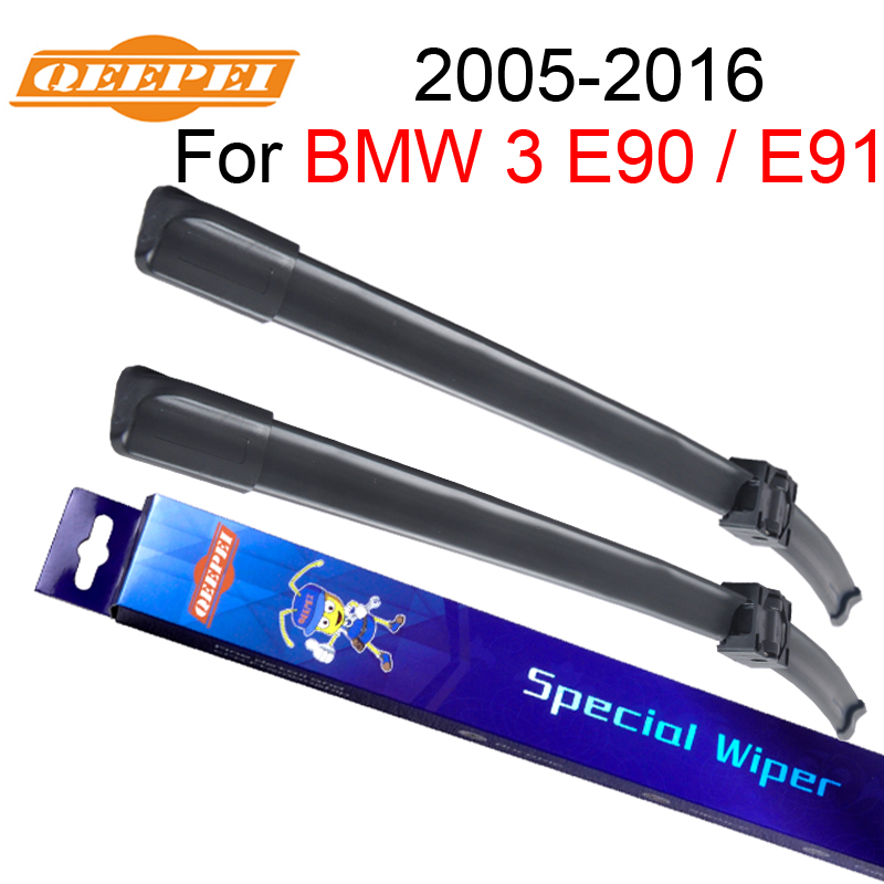 QEEPEI Wiper Blade For BMW 3 E90 / E91 2005-2016 24''+19'' High Quality Iso9001 Natural Rubber Clean Front Windshield CPA3