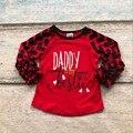 Bebé girls raglán v-day raglán niñas Papá es mi bestie raglans Otoño top niñas de San Valentín día de San Valentín de la formación de hielo raglans camiseta