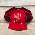 baby girls raglan V-day raglan girls Daddy is my bestie raglans Valentine Autumn top girls Valentines day icing raglans tshirt