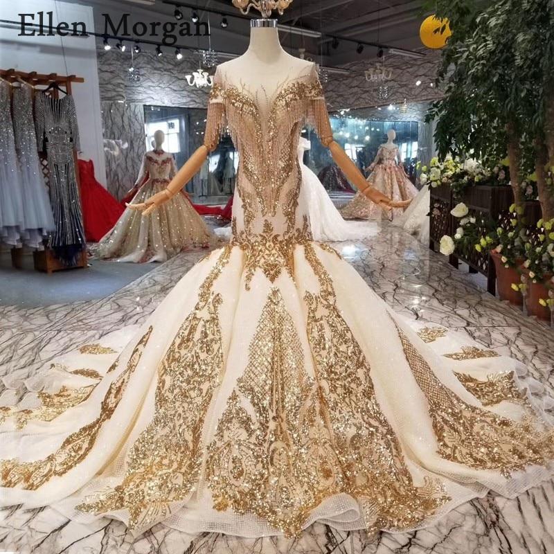 Vintage Wedding Dresses Philadelphia: Cap Sleeves Glitter Mermaid Wedding Dresses 2019 African
