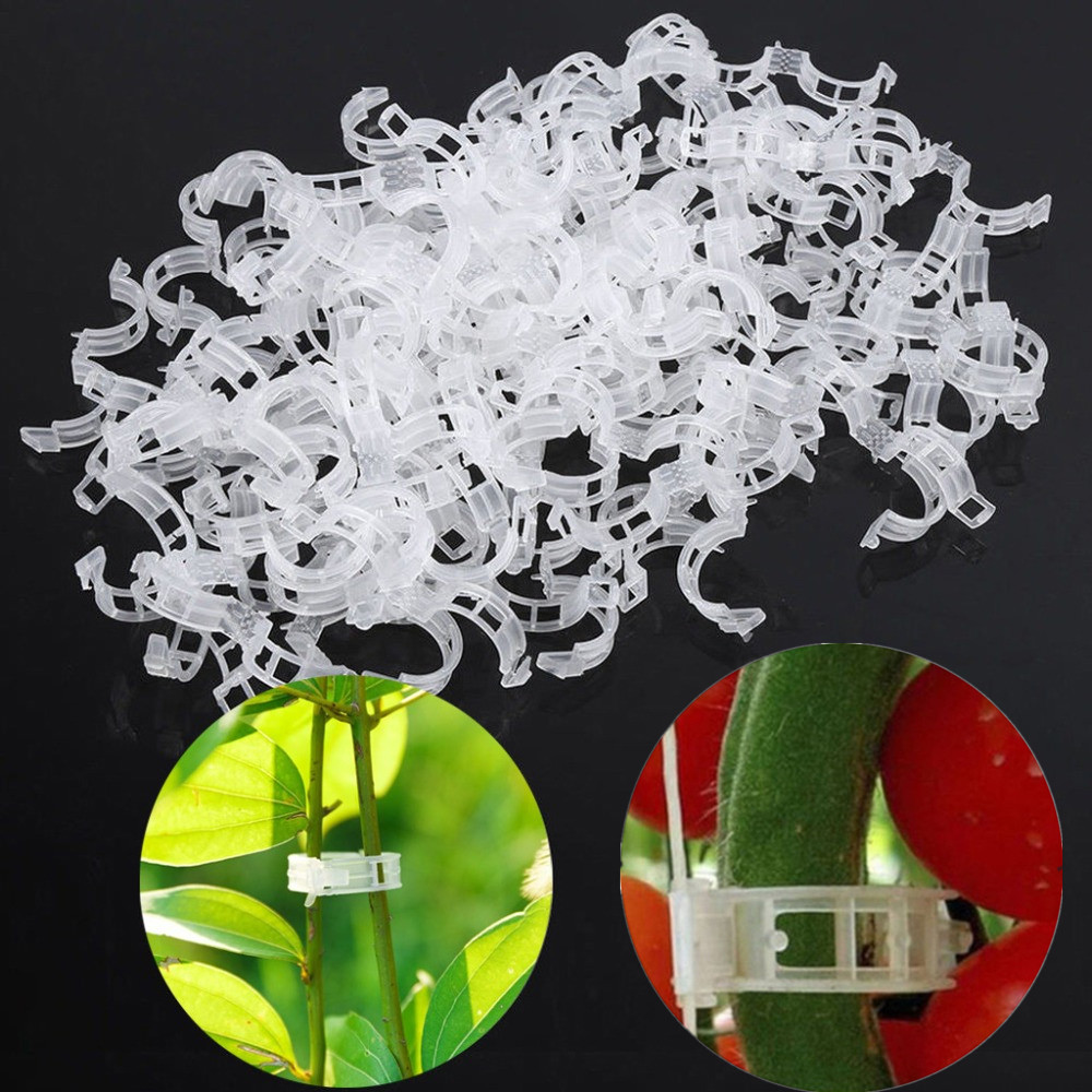 50/100pcs Plant Support Clips For Tomato Hanging Trellis Vine Connects Plants Protection Greenhouse Vegetables Garden Ornament