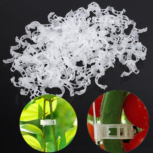 50/100pcs Plant Support Clips For Tomato Hanging Trellis Vine Connects Plants Protection Greenhouse Vegetables Garden Ornament(China)