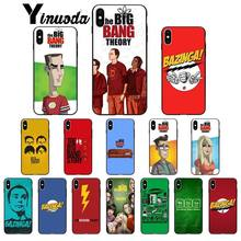 Yinuoda American TV Big Bang Theory Newly Arrived Black Cell Phone Case for Apple iPhone 8 7 6 6S Plus X XS MAX 5 5S SE XR Cover(China)