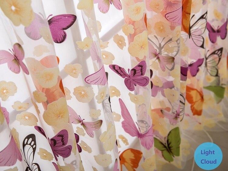 Aliexpress.com : Buy custom made curtains hot Butterfly pattern ...