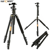 K F CONCEPT Camera Tripod Kit KF TM2324 4 Sections Tripod With Ball Head Professional Bag