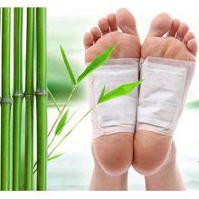 Патчи для ног ALIVER Detox, 20 шт. = (10 шт. пластырь + 10 шт. клеев), накладки для ног с токсином для тела, очищение ног, гербалклей