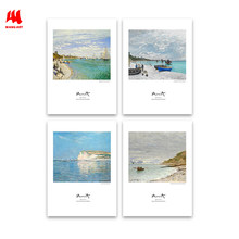 WANGART Canvas Art Print Post Nordic Picture Beach Sainte Adresse Poster Landscape Oil Painting for Living Room Home Decor JY265(China)