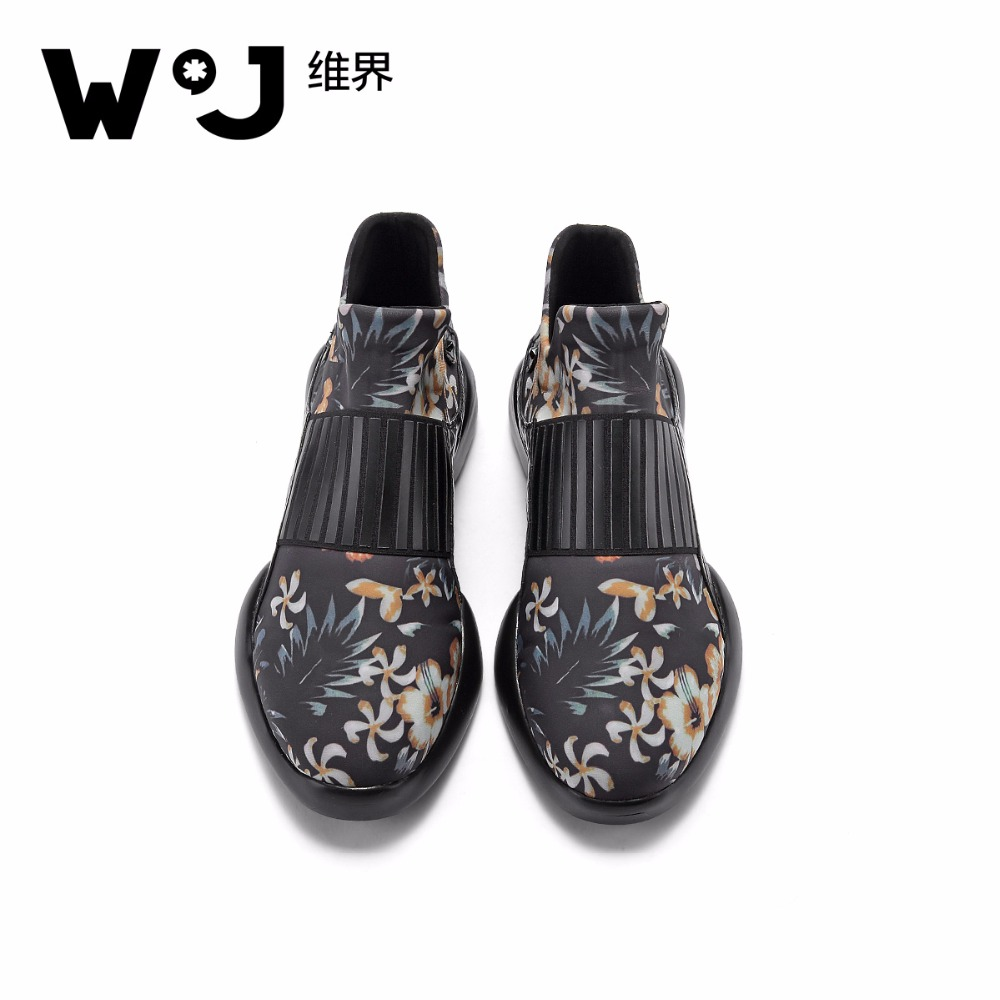 W.J Microfiber  Spring Summer Autumn Winter Casual Floral Breathable Slip On Black Fabric Men Shoes baijiami 2017 new children solid breathable slip on pu casual shoes boys and girls spring summer autumn flat bottom shoes