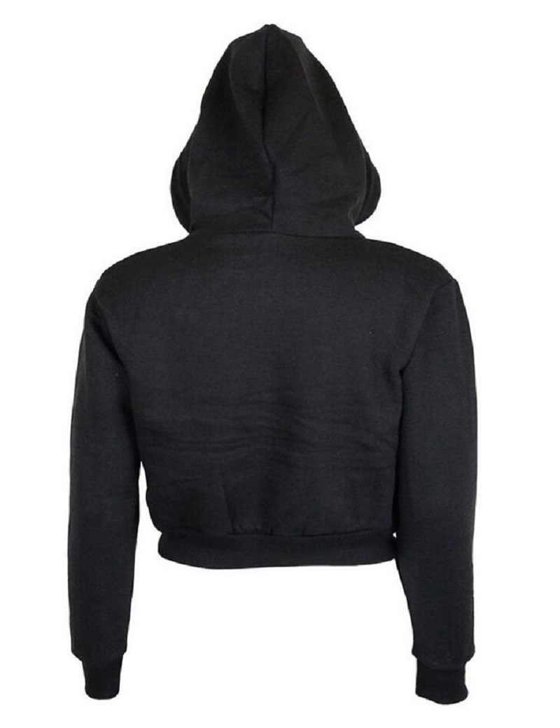 2017 Herfst Womens Solid Crop Hoodie Lange Mouwen Jumper Hooded Trui Jas Toevallige Sweatshirt Top Sudaderas Mujer