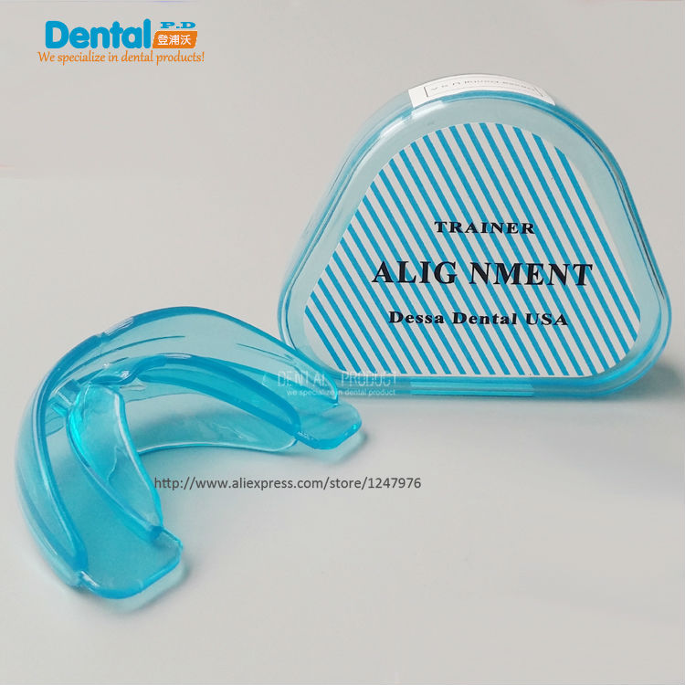 4 pcs step 1 blue soft for Adult Dental Tooth Orthodontic Appliance Trainer Alignment Braces Mouthpiece