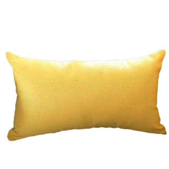 Contemporary Solid Rectangle Pillow Case Pillowcase Decorative Pillows For Home Sofa Seat Cushion Cover 30X50cm Home Decor 18Nov
