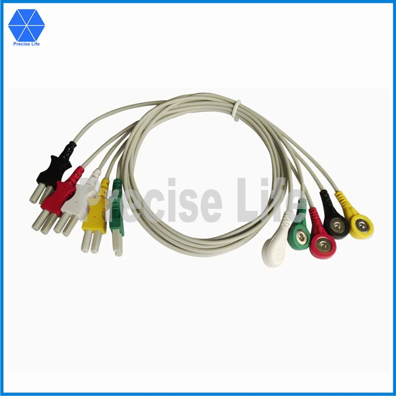 compatible for 700-0007-10 turlink 5 leads ecg lead wire set snap 1002cm