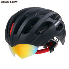 Men Women Cycling Helmets Bicycle Skiing Goggles Helmets EPS Foam PC Riding Reflective Warning Safety Helmet BASECAMP