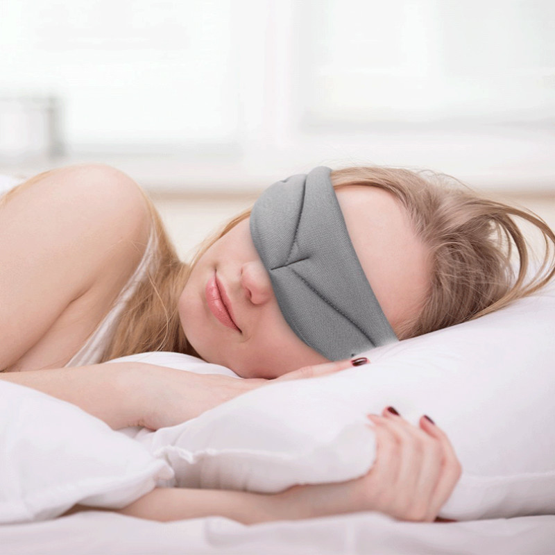 Travel Relax Sleep Mask Women Men Soft Length Adjustable Sleeping Aid Blindfold Bandage Eyepatch