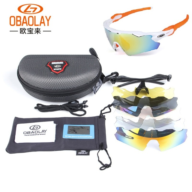 badb5788b0 OBAOLAY Polarized Cycling Glasses Unisex Men Bike Goggles Outdoor Sports  MTB Bicycle Sunglasses Eyewear 5 Lenses Gafas Ciclismo