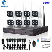 8CH 960 P Draadloze NVR kit Outdoor IR Nachtzicht IP Camera 1.3MP Wifi Camera Kit Home Security Systeem Surveillance 1 TB HDD|Bewakingssysteem|   -