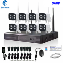 8CH 960P Wireless NVR kit Outdoor IR Night Vision IP Camera 1.3MP Wifi Camera Kit Home Security System Surveillance 1TB HDD 960p hd outdoor ir night vision home video surveillance security ip camera wifi cctv kit 4ch wireless nvr system 1tb hdd