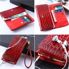 Общий бумажник сумка кожа чехол для / для jiayu / для xiaomi крокодиловая кожа узор карта держать + мобильный телефон чехол + ремень-линии телефон мешок