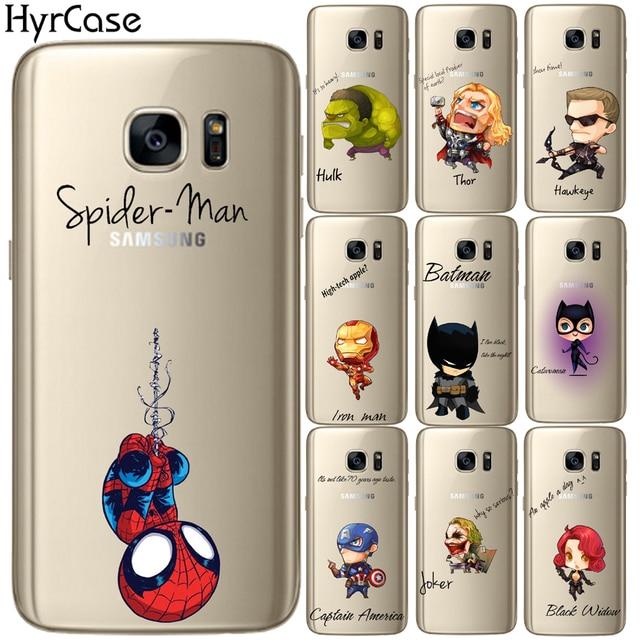 quality design c5d28 2c689 Cool Cartoon Marvel Heros Soft TPU Silicone Phone Back Case Cover ...