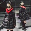 2017 Jaquetas Para Meninas Roupas Crianças roupas Meninas Casaco de Inverno Crianças Roupas Grossas de Algodão Jaqueta Parka 2 Cores Idade 2-14Y